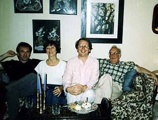 With George and Elizabeth  Crumb, and conductor Leonid Grin, in Crumb's house in Philadelphia, 1989